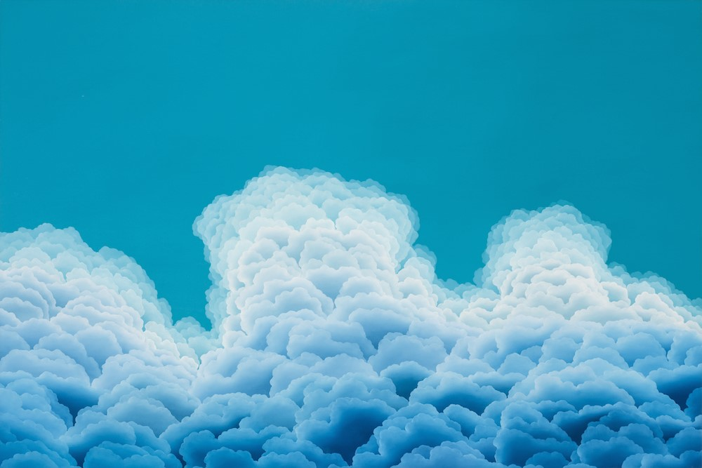 """Turquoise Brilliance  oil on canvas  40"""" x 60"""""""