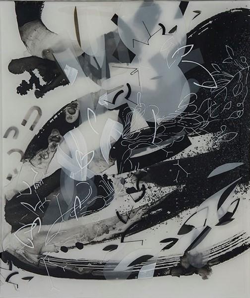 Sabin Aell  BON 3  19x23  mixed media photography in resin
