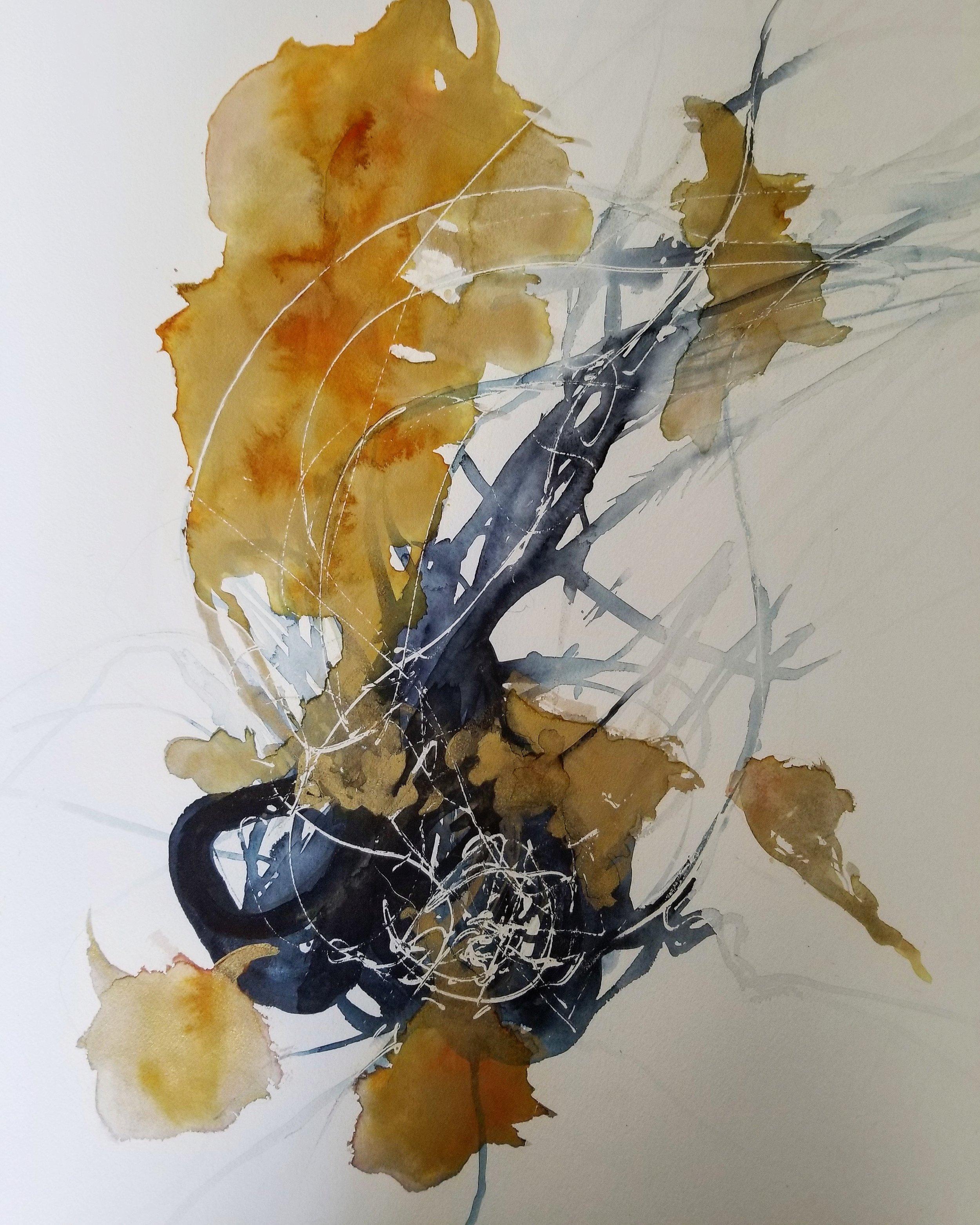 Brian Comber  Dafne  watercolor  30x22