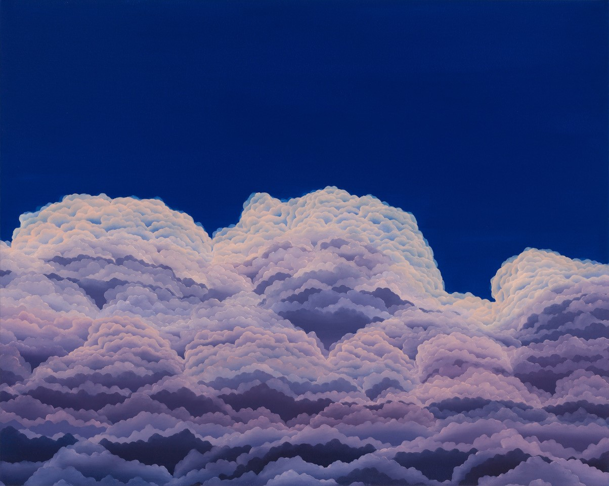 """Sedimentary Skyway  oil on canvas  24"""" x 30"""""""