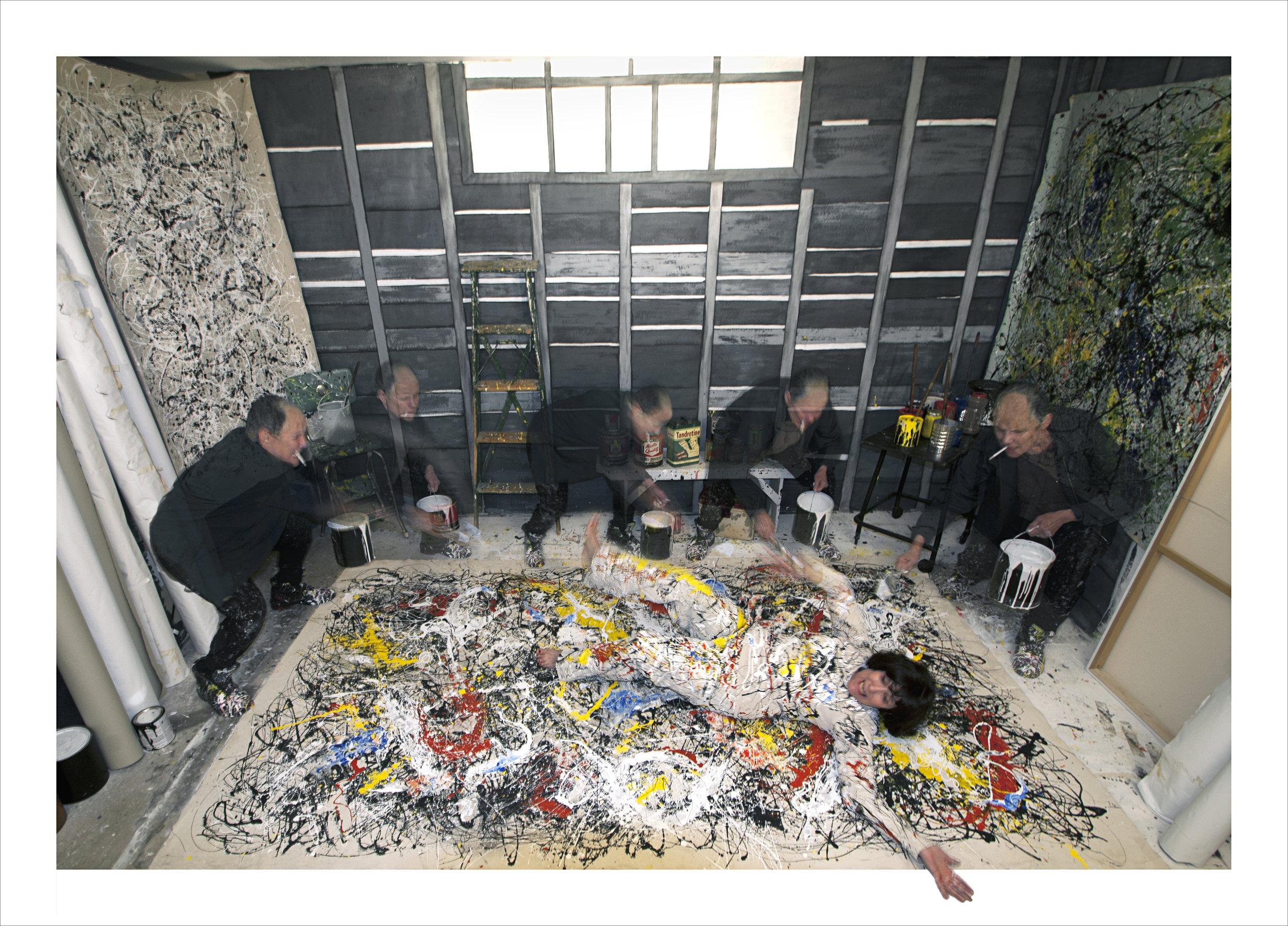"""Pollock vs. Krasner 1956  Archival pigment print  19"""" x 26"""""""