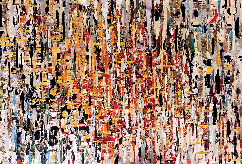 Doug Haeussner  Enigma  collage  43x40