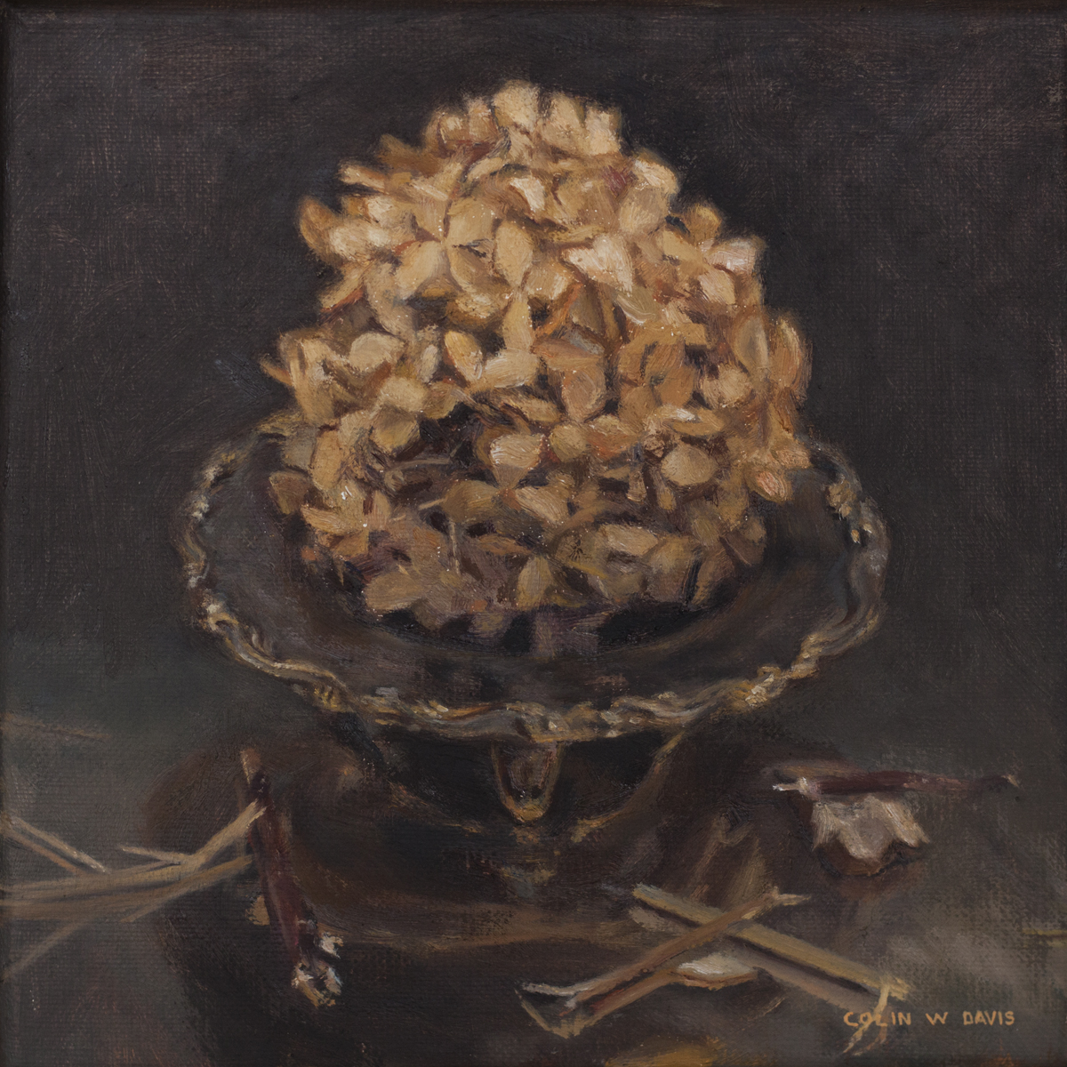 Dried Hydrangea on Throne