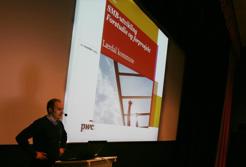 Harald Mo i PWC har vore innleigd som prosjektleiar for SMB-prosjektet i Lærdal. Tekst og foto: Odd Helge Brugrand