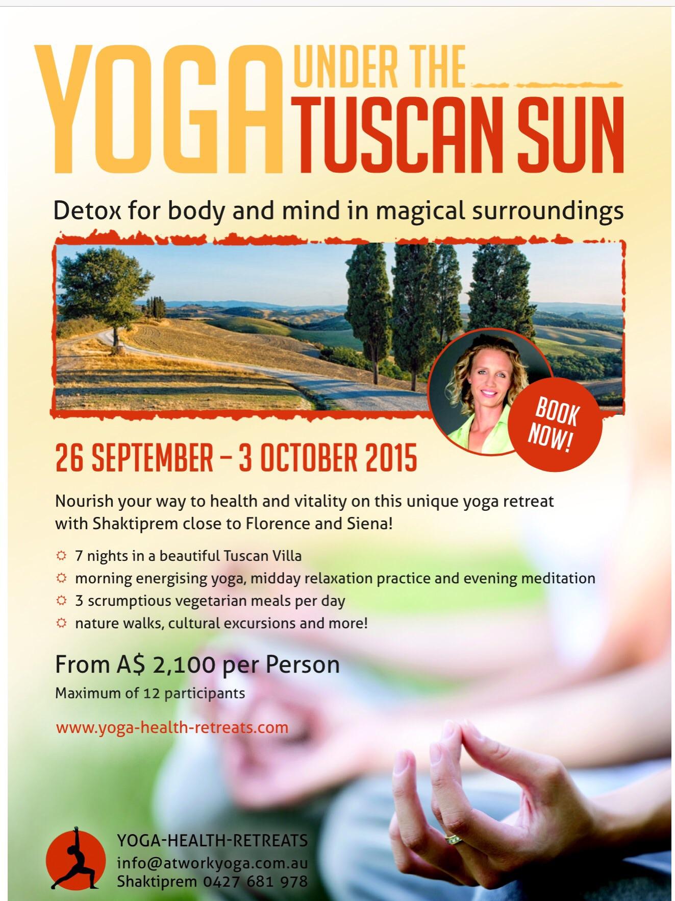Yoga under the Tuscan Sun 09/2015