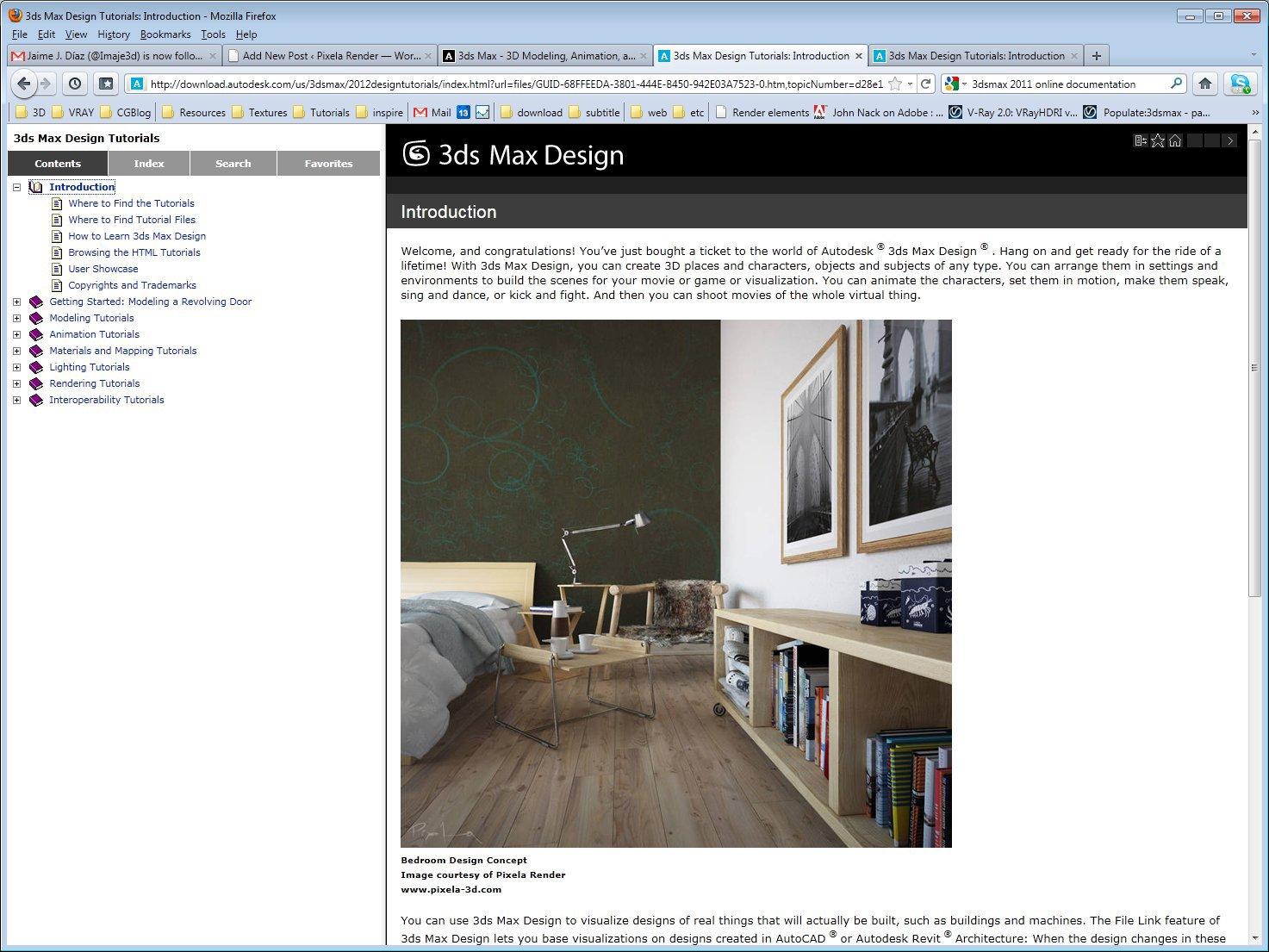 Autodesk 3DSMax 2012 Online Help Introduction