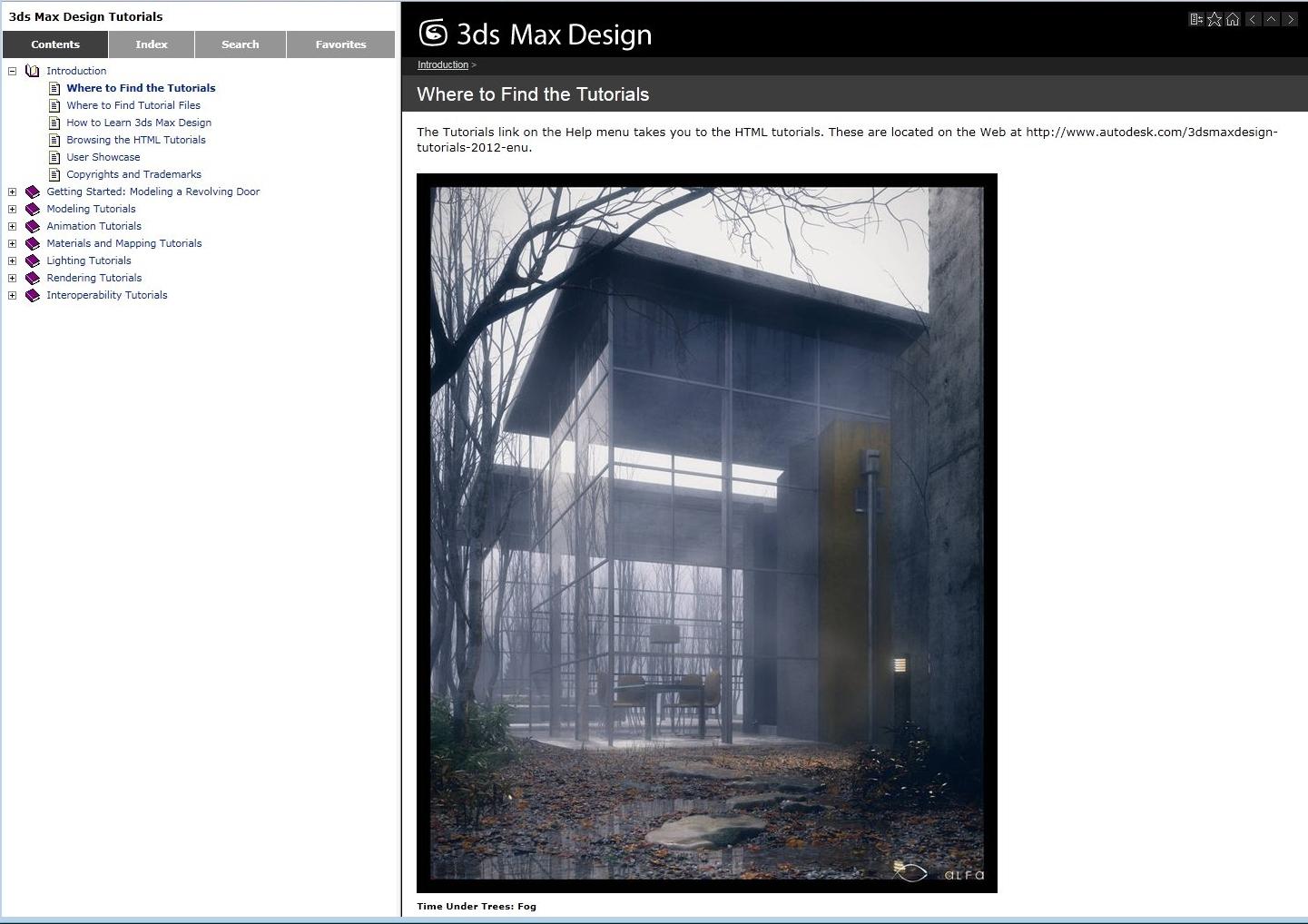 Autodesk 3DSMax 2012 Online Help Tutorials