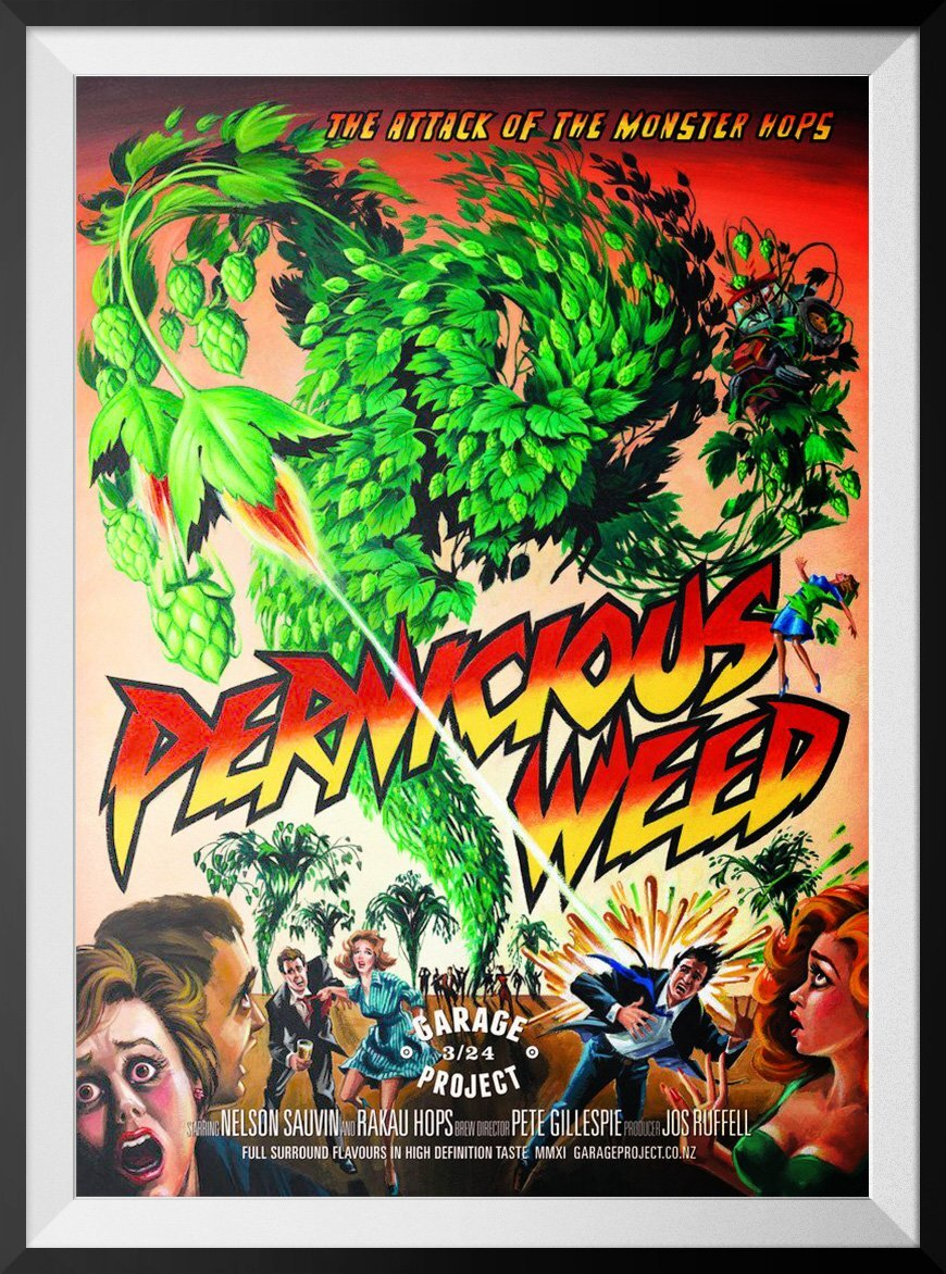 Pernicious weed release poster - the inspiration for the game