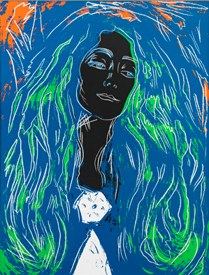 Andy Warhol  Eva Mudocci (After Munch), 1984  Silkscreen ink and synthetic polymer paint on canvas, 127 x 96,5 cm  Haugar Art Museum/Sparebankstiftelsen DNB  © 2013 The Andy Warhol Foundation for the Visual Arts, Inc./Artists Rights Society (ARS), NY