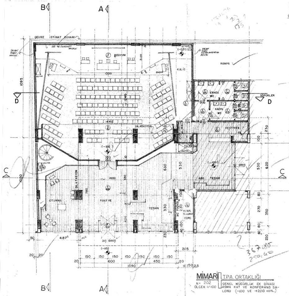 Resim-5b: TPAO Genel Müdürlük, ek bina, plan.