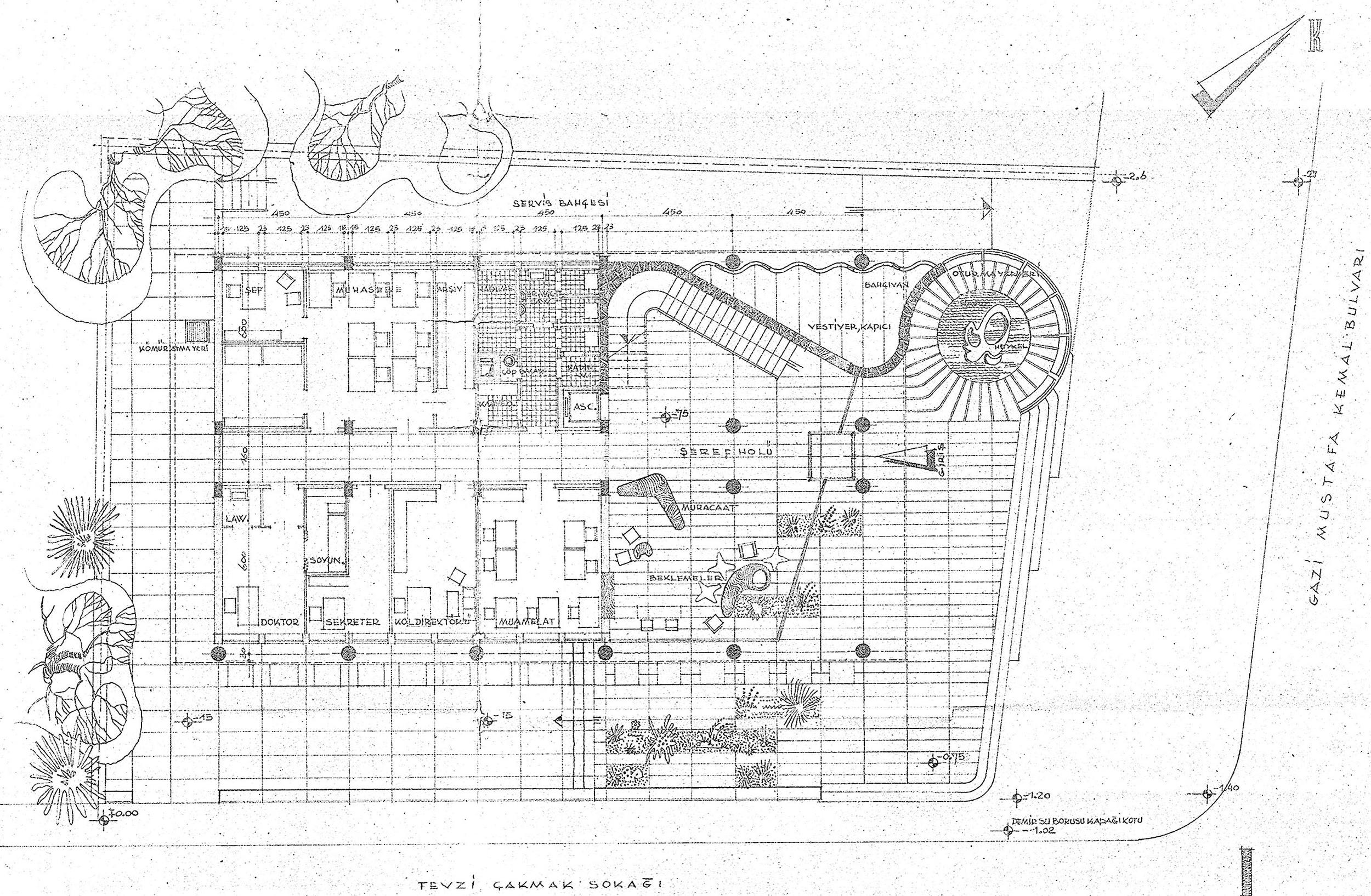 Şekil 6: EİE Zemin Kat Planı [Kaynak: Büyükşehir Belediyesi İmar Daire Başkanlığı, 2008]