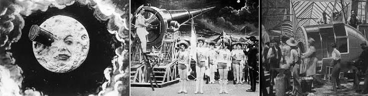 Resim 3:  George Melies'in 1902 tarihi Aya Seyahat filminden kareler.