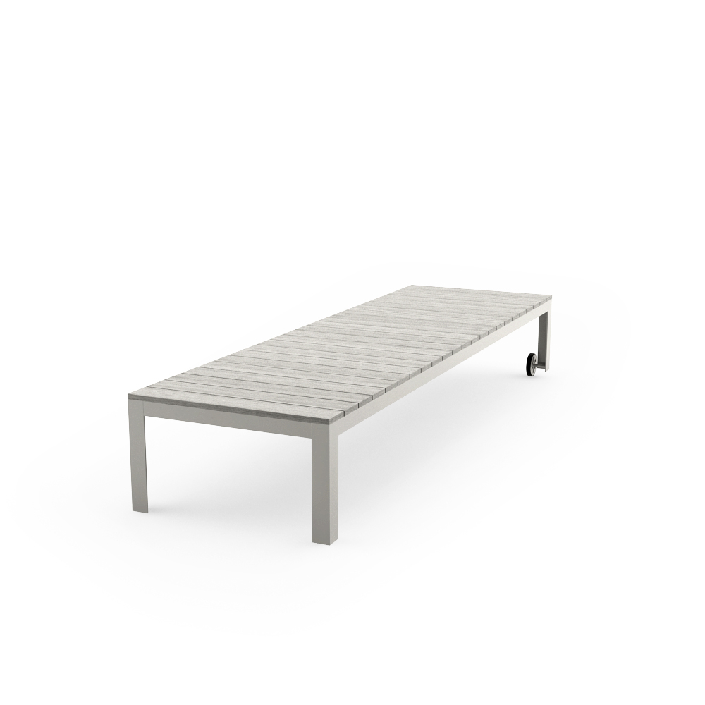 IKEA FALSTER CHAISE, GRAY POSE 2
