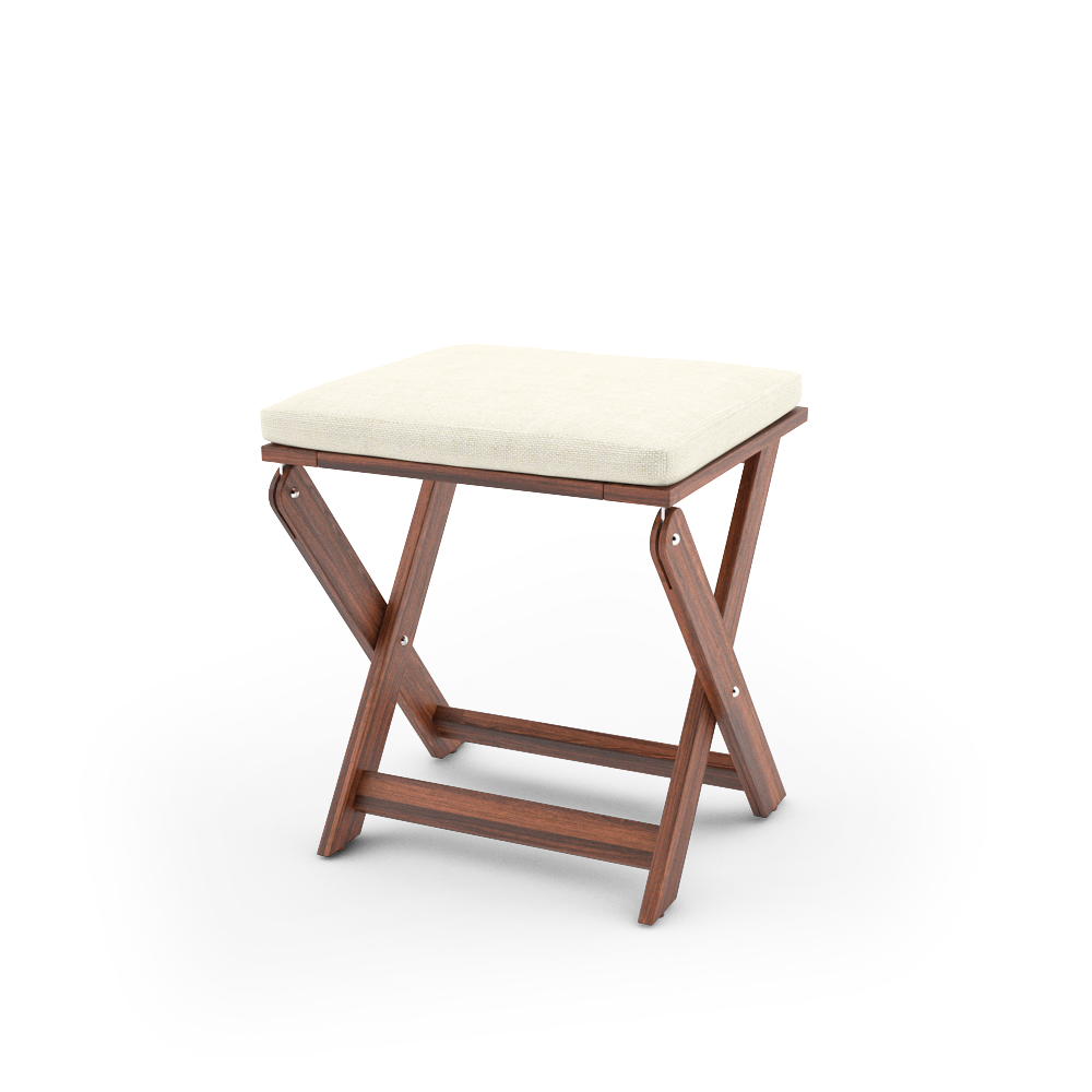 IKEA APPLARO STOOL FOLDABLE UNFOLDED WITH CUSHION