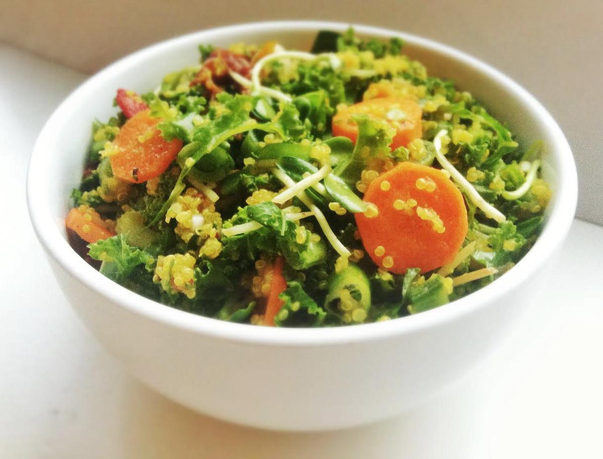 En salat full av proteiner som metter godt!