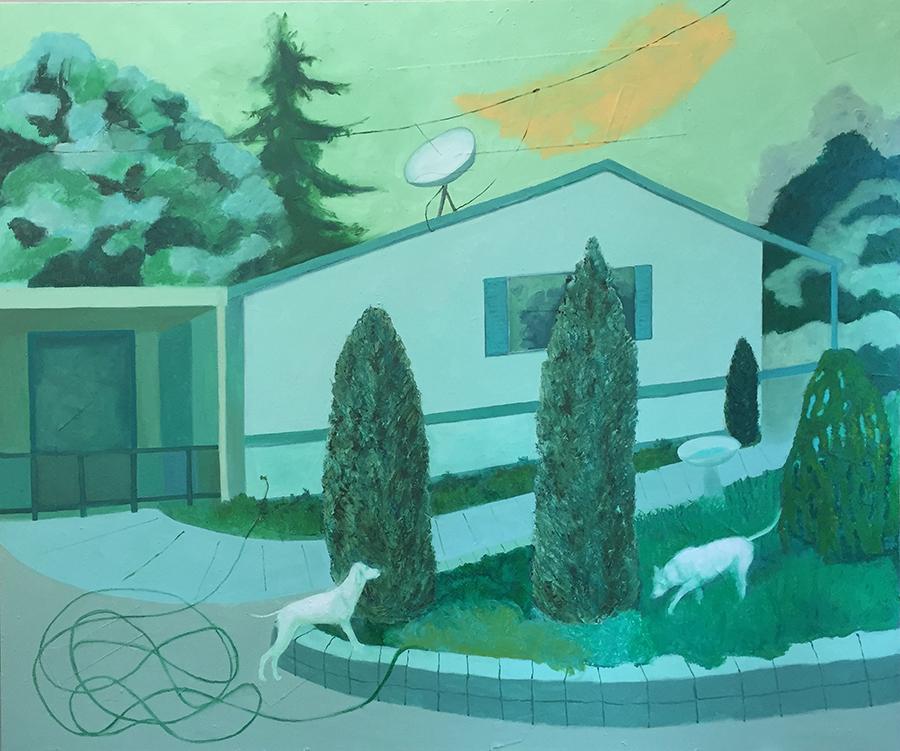 """Mountain Grove   60 x 72 x 2"""" Oil on canvas"""