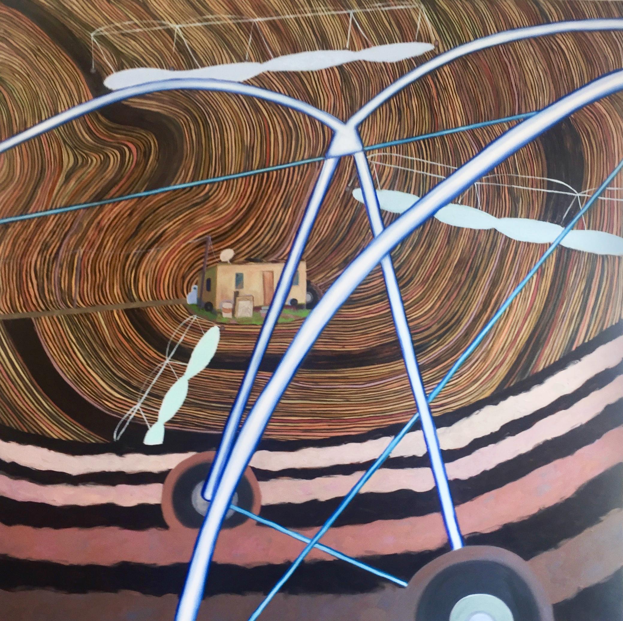 "Lubbock   Oil on canvas, 72 x 72 x 2"""