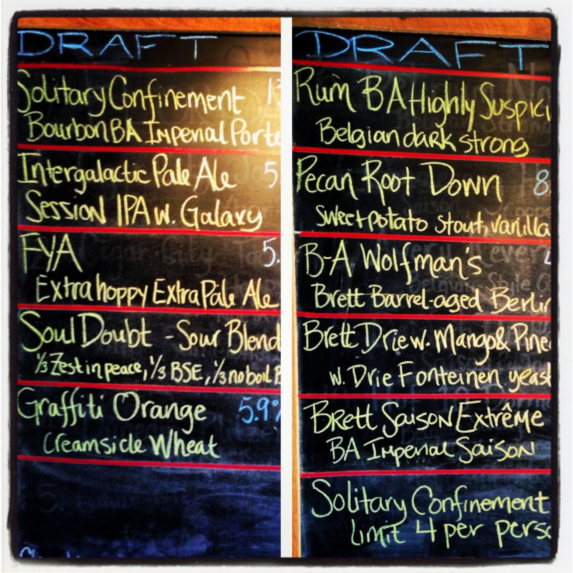 7venth Sun Brewery's Tap List