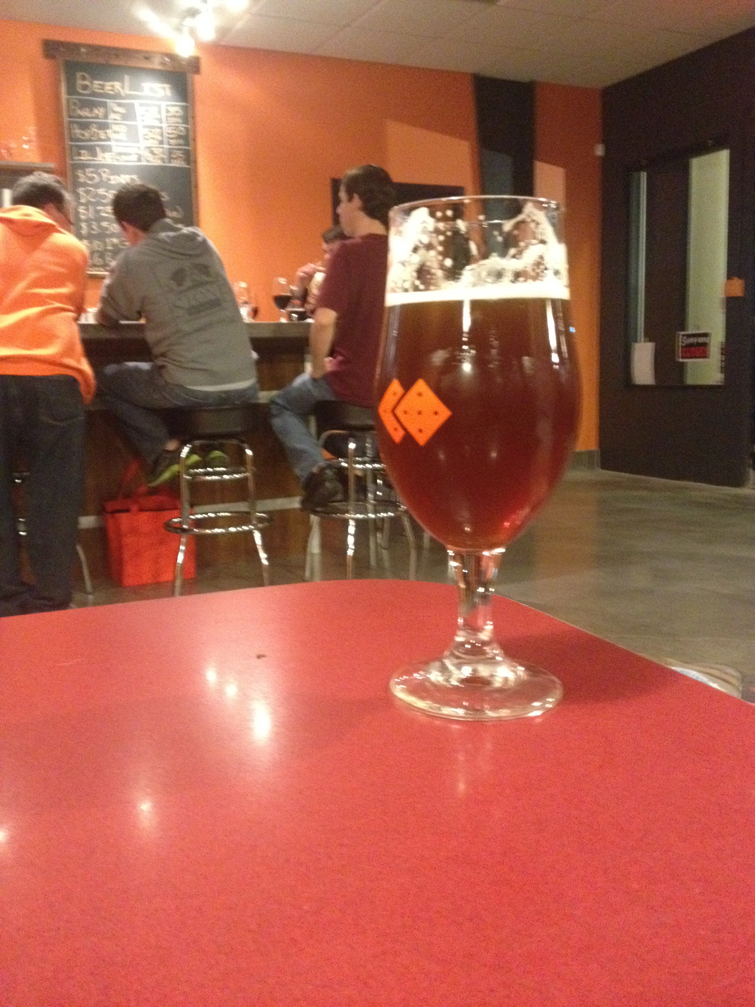 Tampa Brew Tours R&D team enjoying one of the many fine brews at Pair O' Dice Brewing.