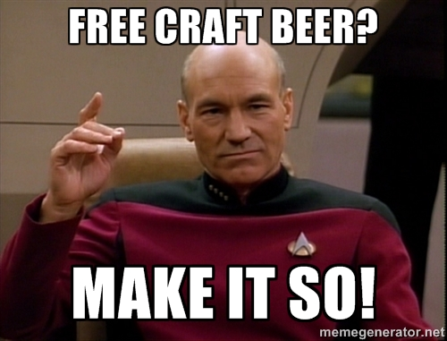 """Engage the Free Craft Beer Deal"""