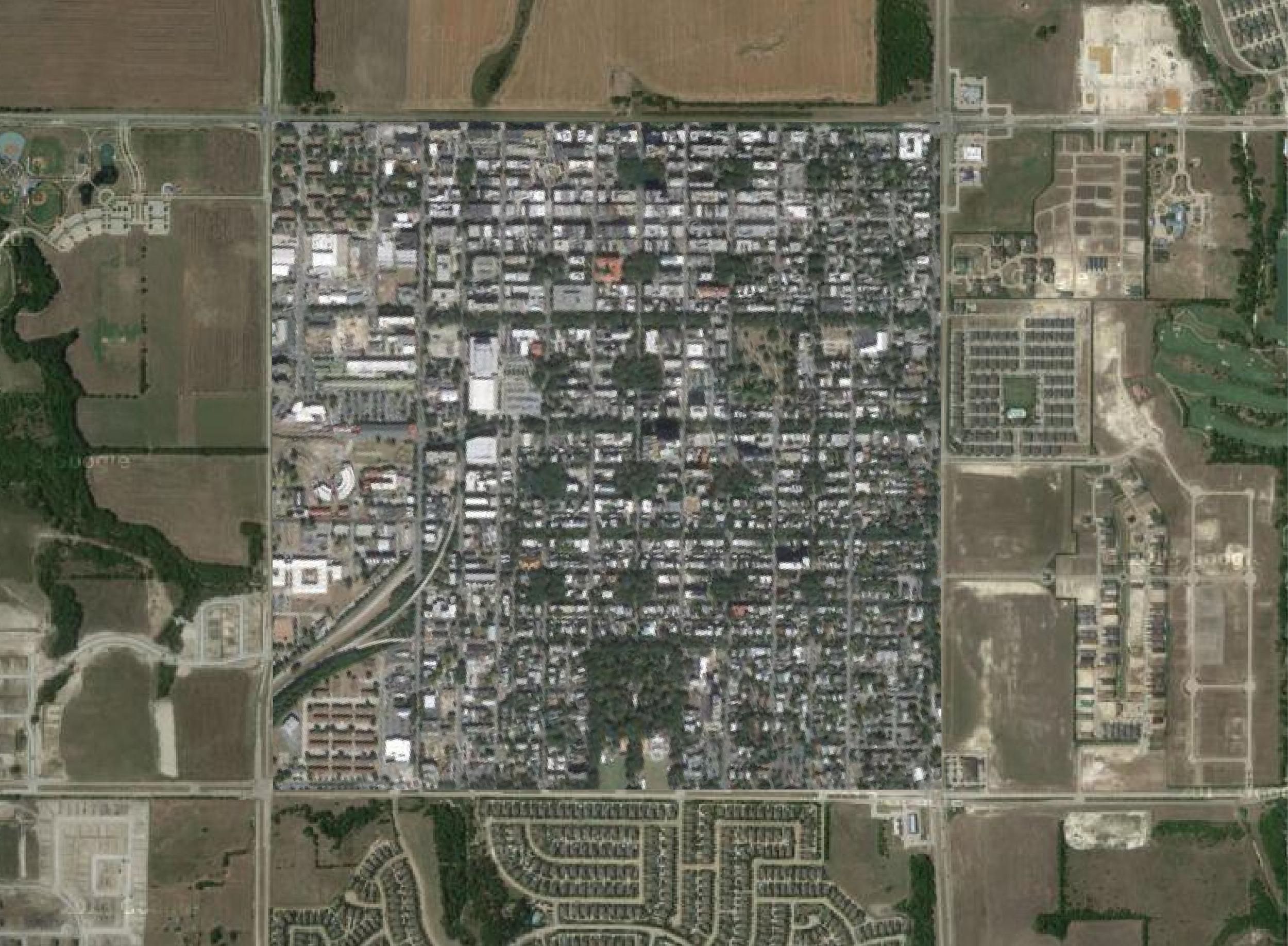 mile grid with savannah