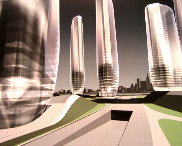 Zaha Hadid's design for the proposed New York Olympic village