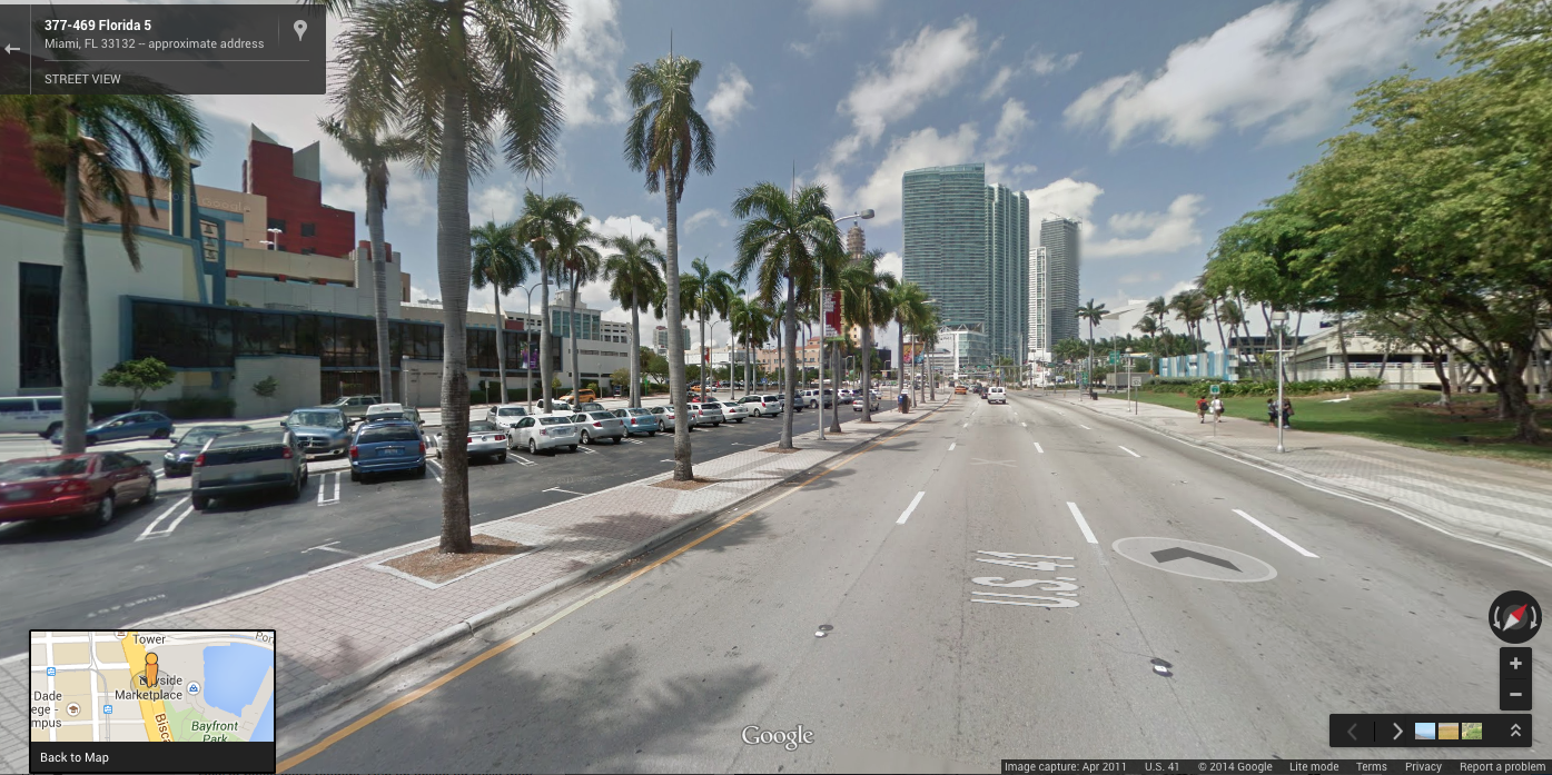 Biscayne Boulevard in downtown Miami, FL
