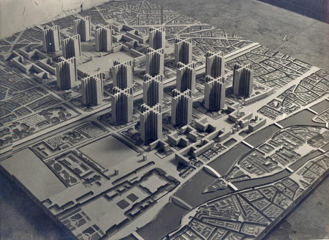 A utopian plan by Le Corbusier that would have ruined Paris