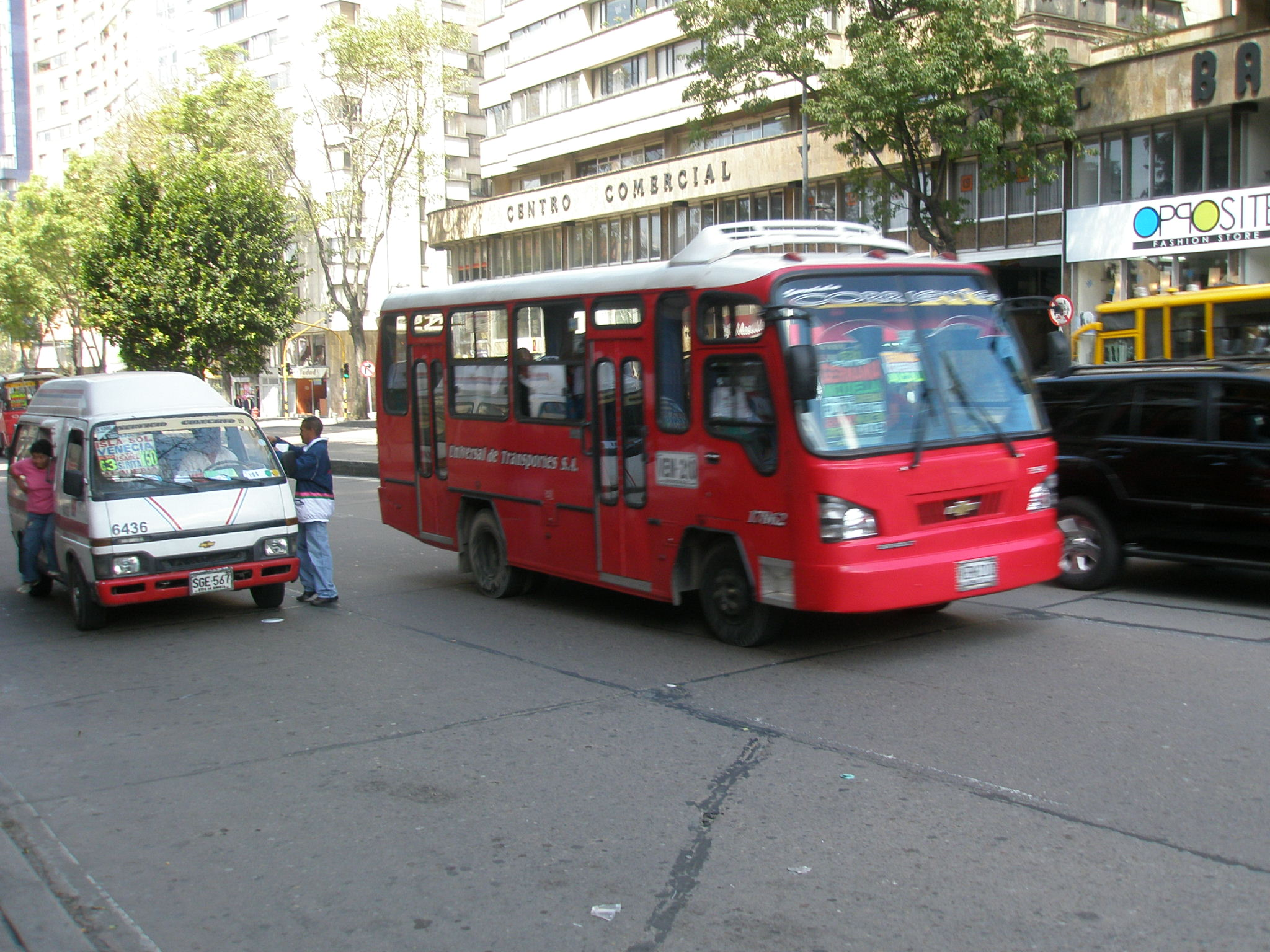 Buses in Bogota, Colombia