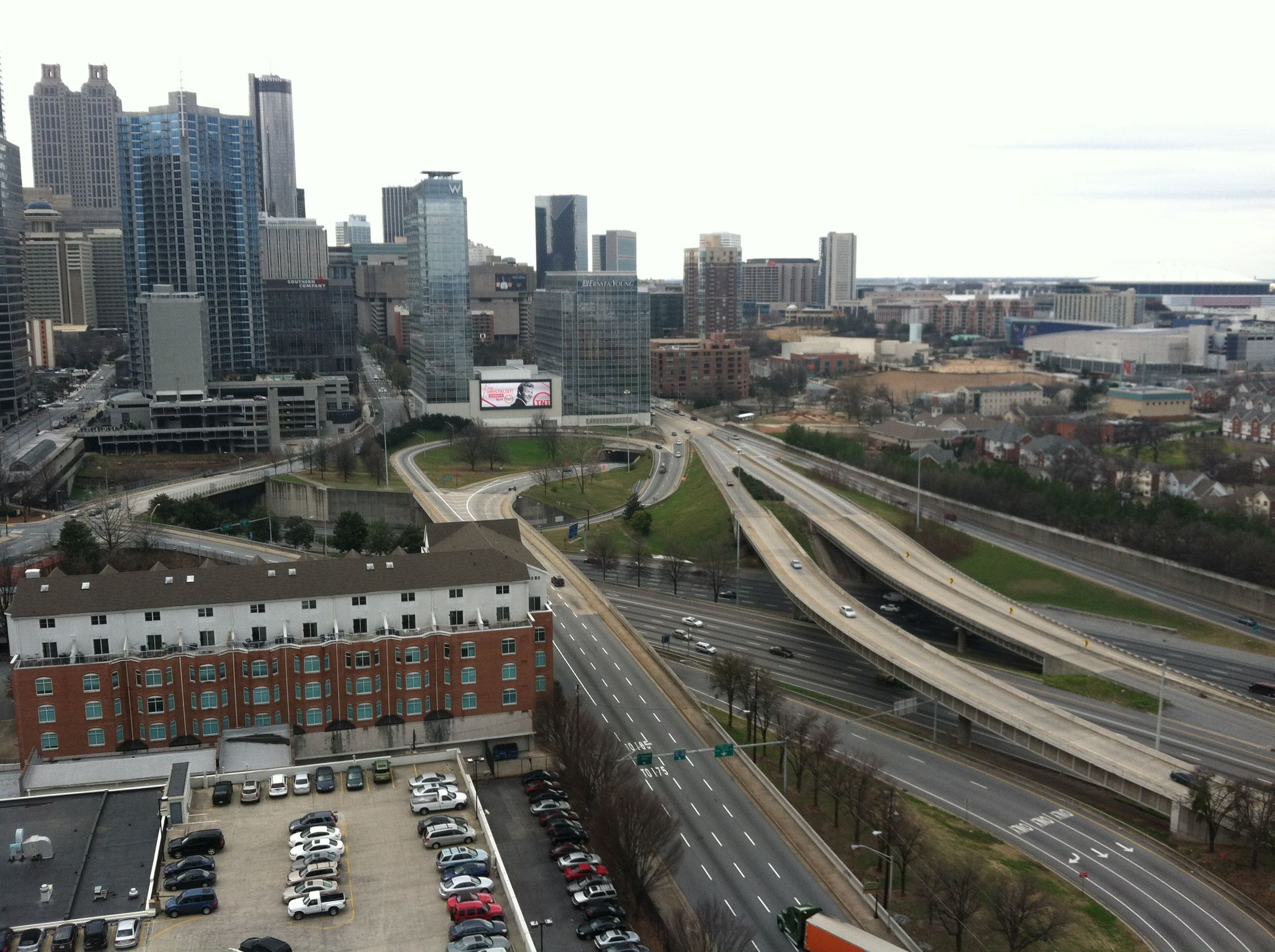 Freeway infrastructure in downtown Atlanta