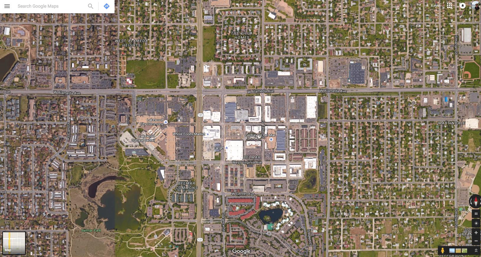 Belmar in context, via Google Maps