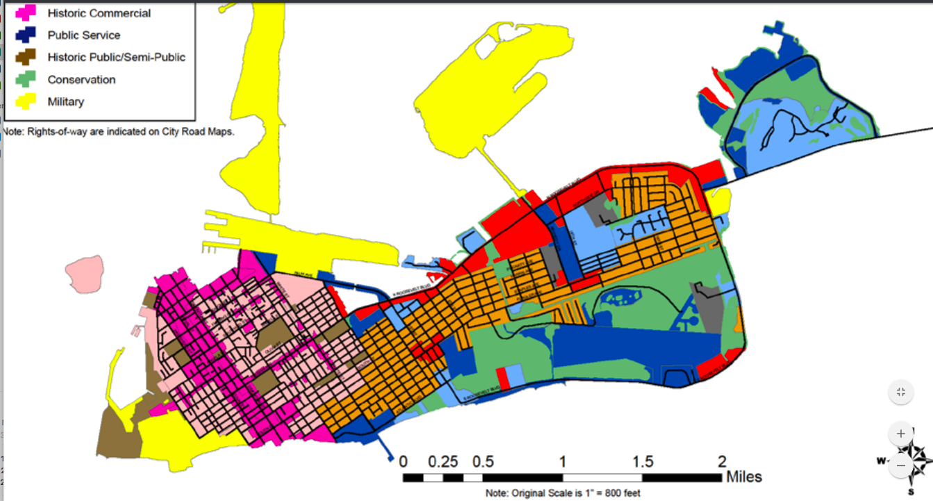 "The bulk of Key West is ""low density residential."""