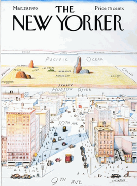 The infamous New Yorker's view of America, from New Yorker magazine