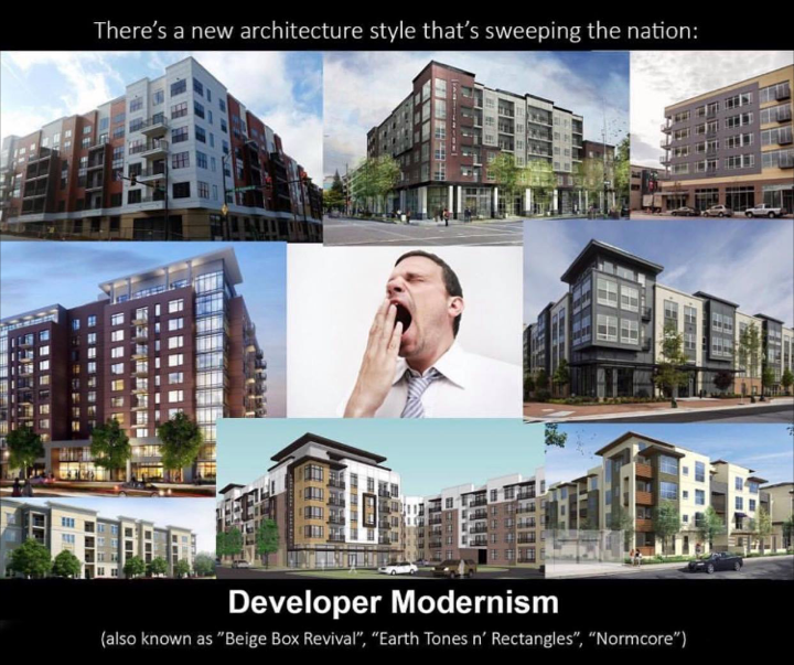 A joke making the rounds. And to be honest, these are better-than-average for what we are seeing built today in city after city