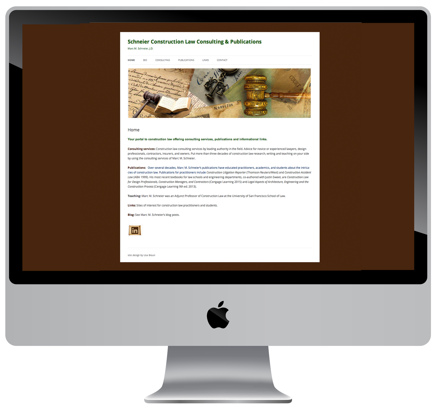 Website for construction law consultant and author.