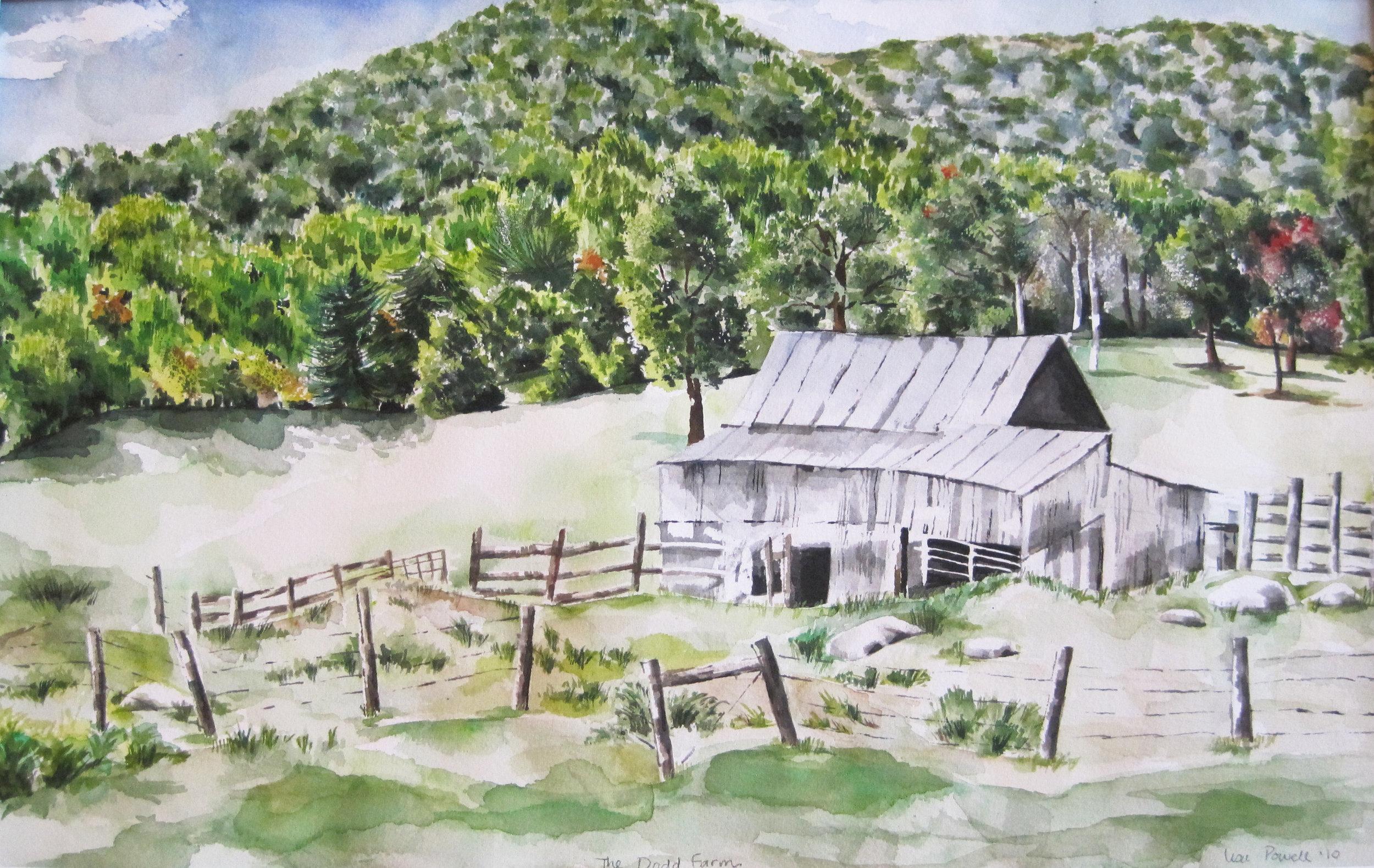 The Dodd Farm Watercolor SOLD