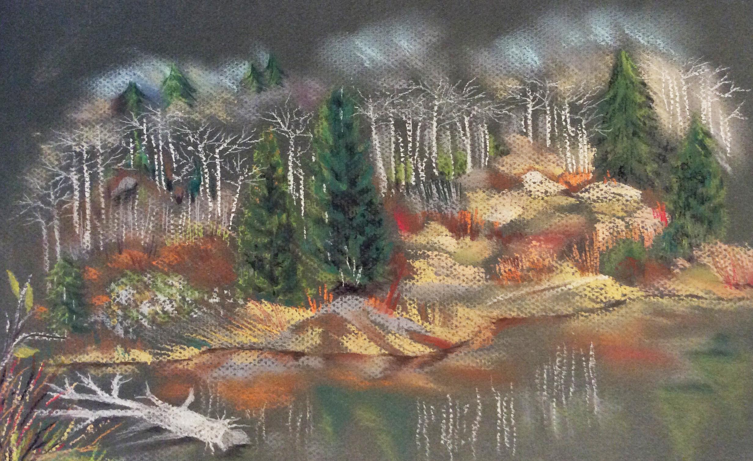 """Steamboat Springs 14.5 x 8.5"""" Pastel"""