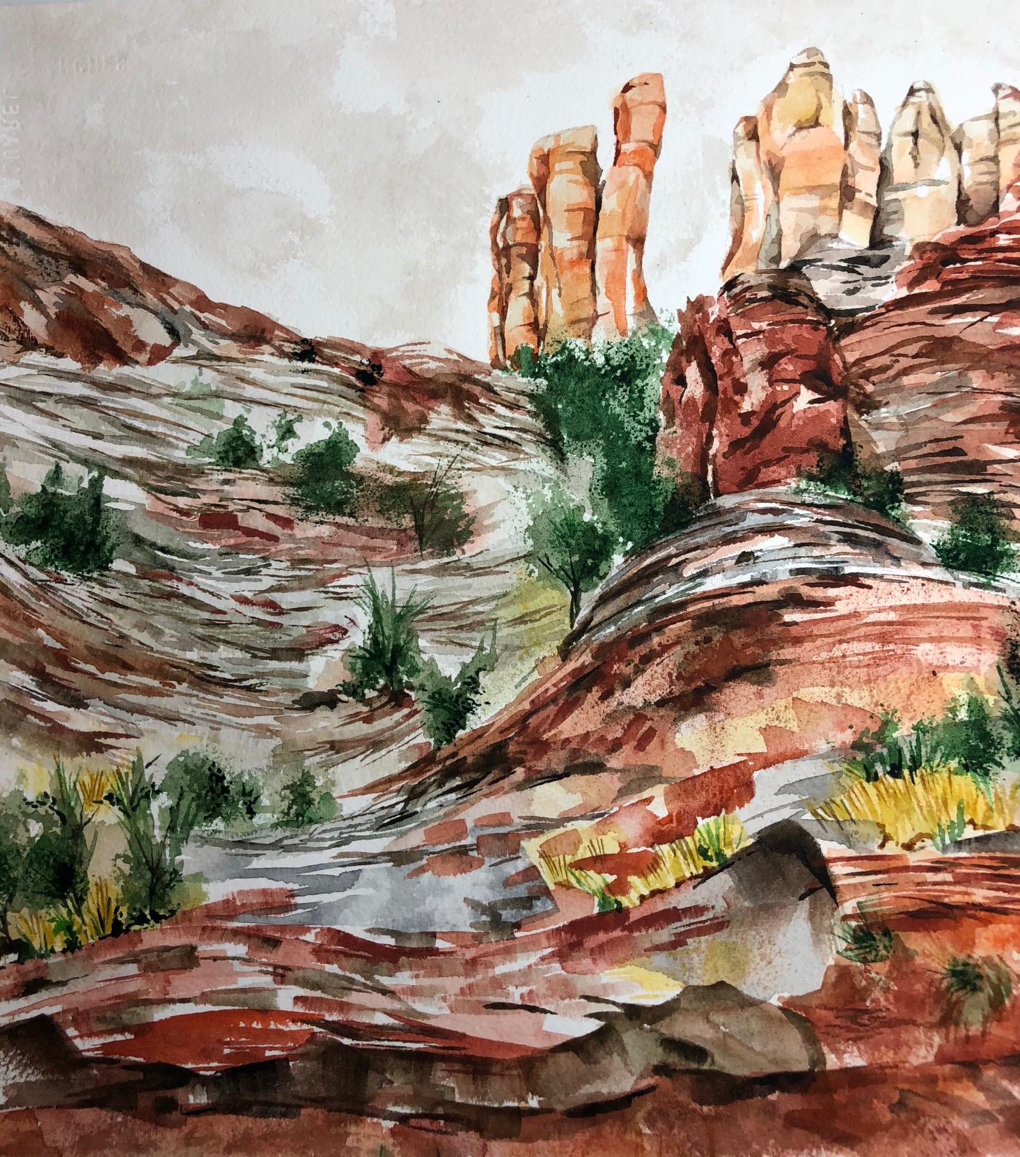 "Sedona 12.25 x 11.5"" Watercolor"