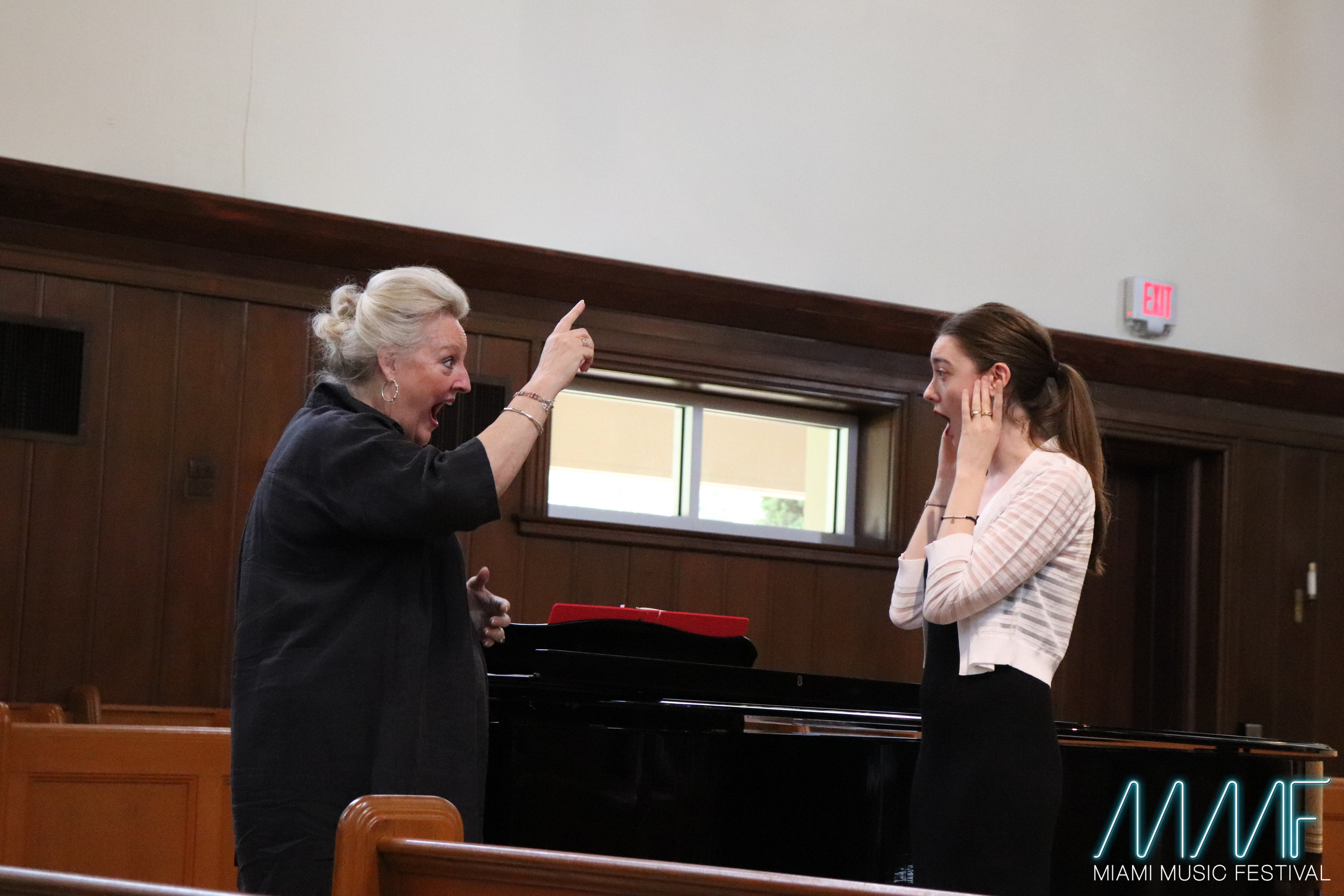 World Renowned Soprano Linda Watson giving a Masterclass in the 2018 Miami Music Festival.