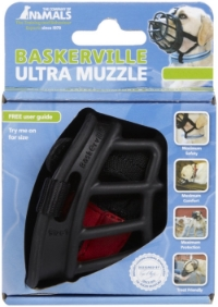 We personally recommend Baskerville Ultra Muzzles for comfort and easy access to treats and water.
