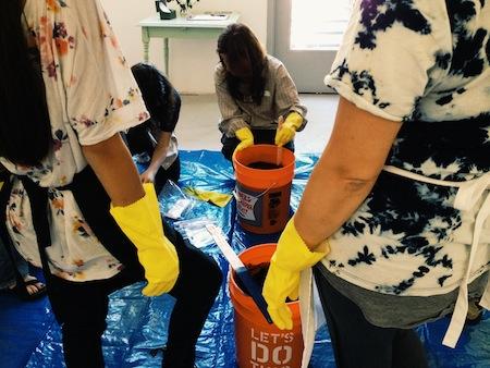 Indigo Dye Baths Handcraft Studio School