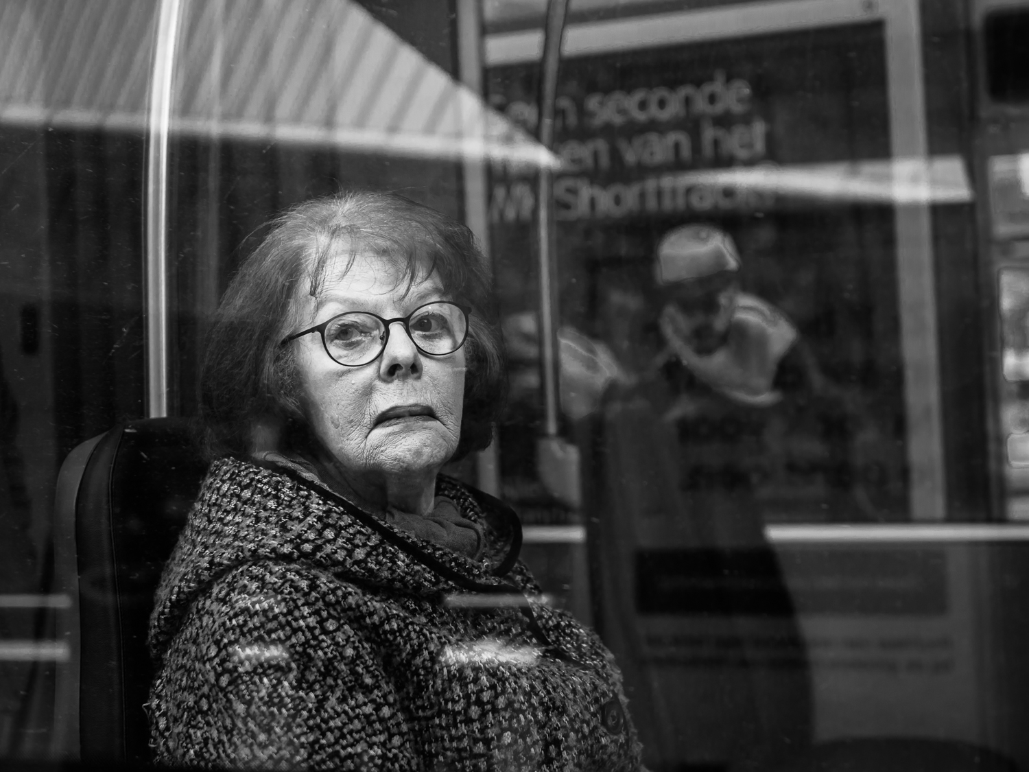 Photo taken in Rotterdam in March 2017. I often make photos of elderly people. I do this intuitively. Their faces show the live they have lived. I also like to see young people but somehow they don't appear very often in my images.  Shot with Olympus OMD1 Mark 2 and Olympus 25mm f/1.2