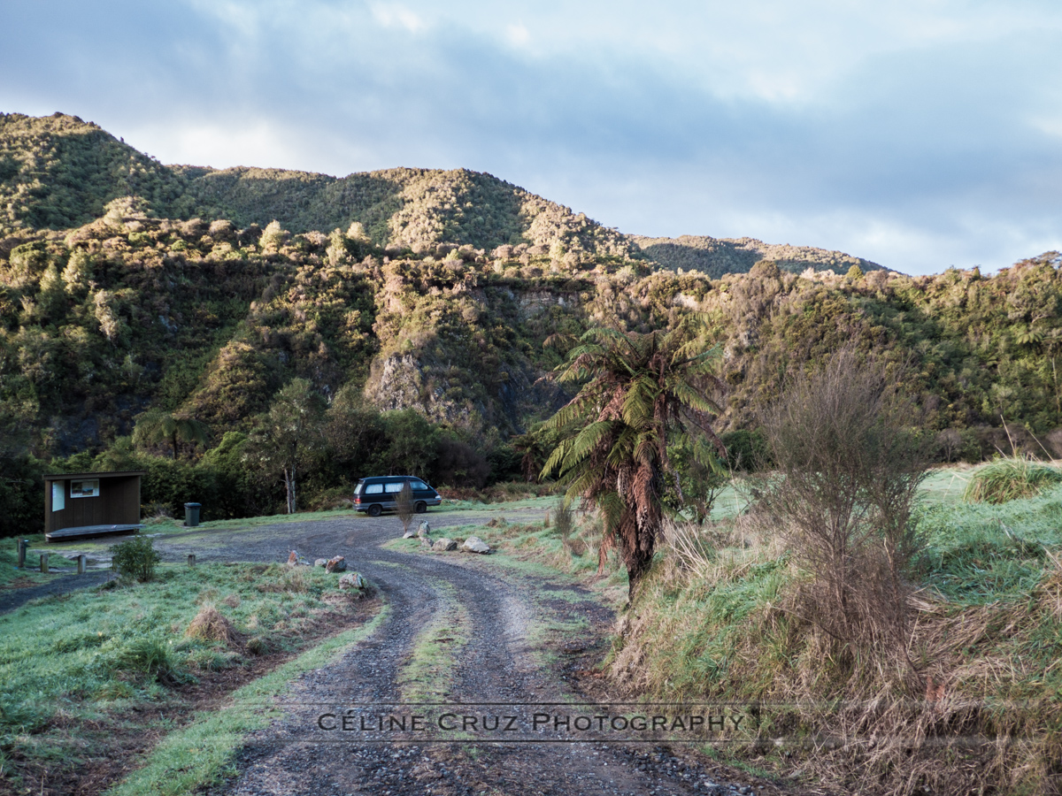 Otaki Forks Camp ground early morning