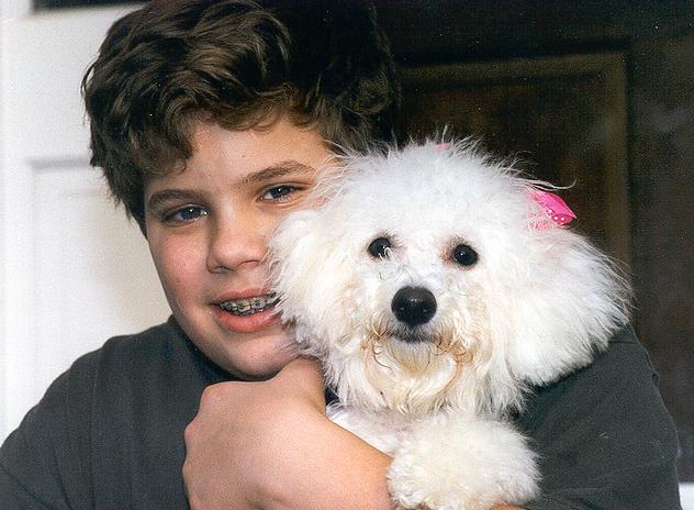 Paul and Shasta, circa 1997.