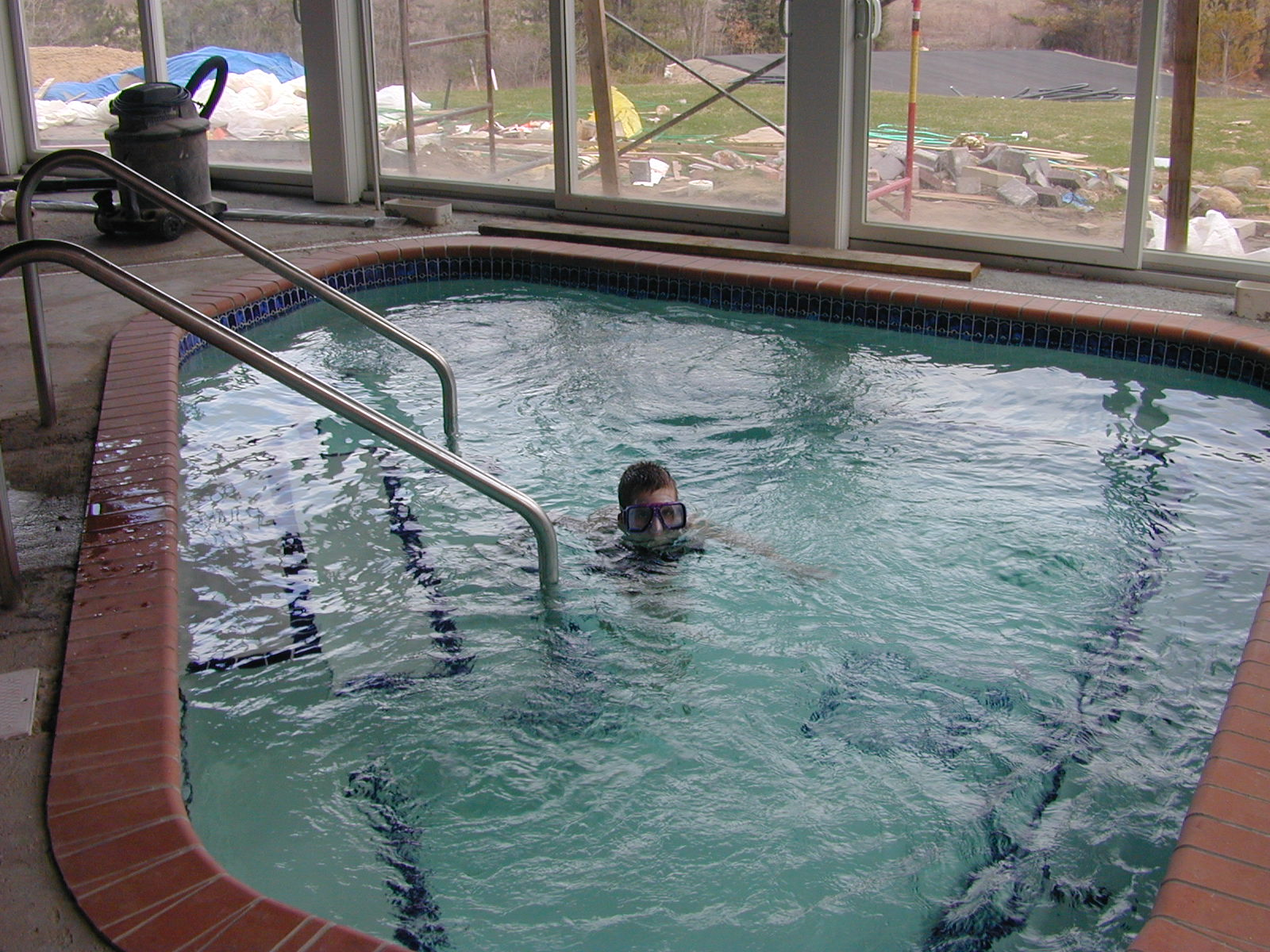 Peter in the hot tub in IGH, circa 2001