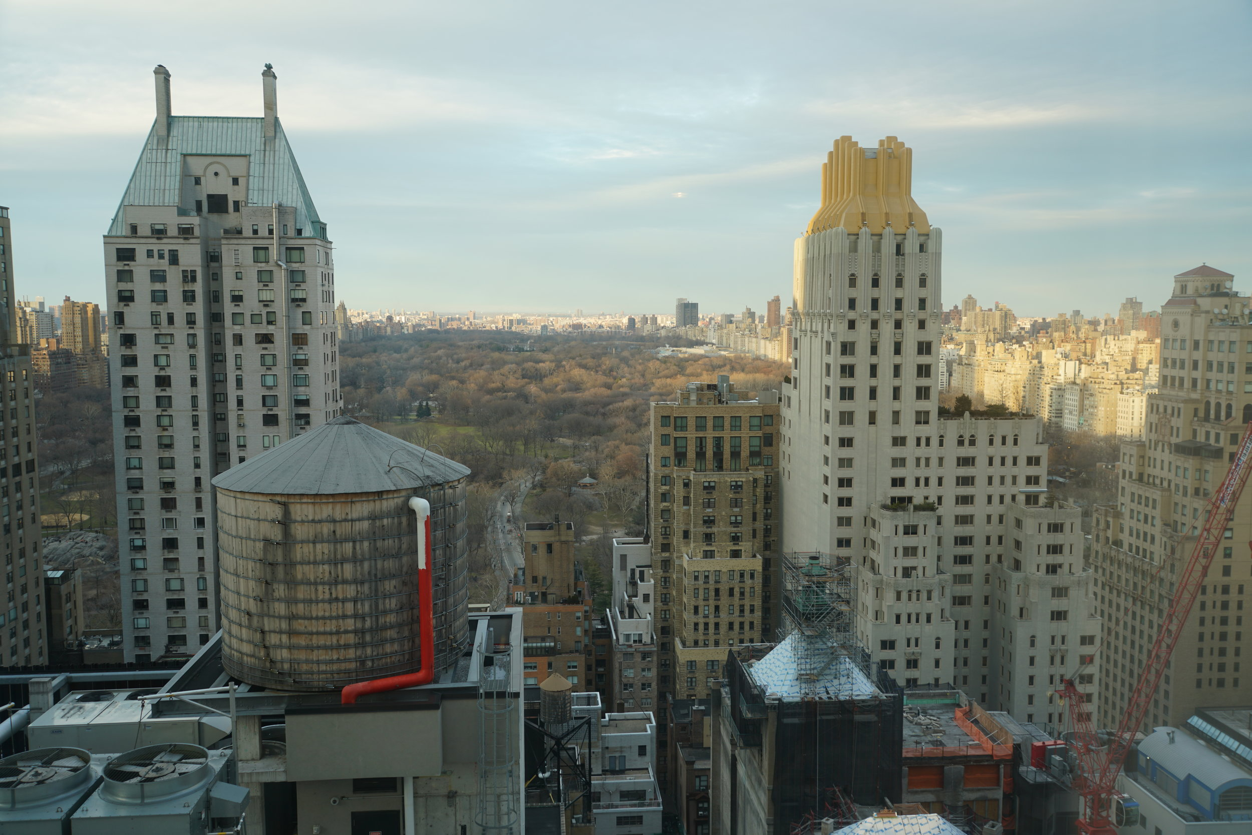 View of Central Park from our hotel