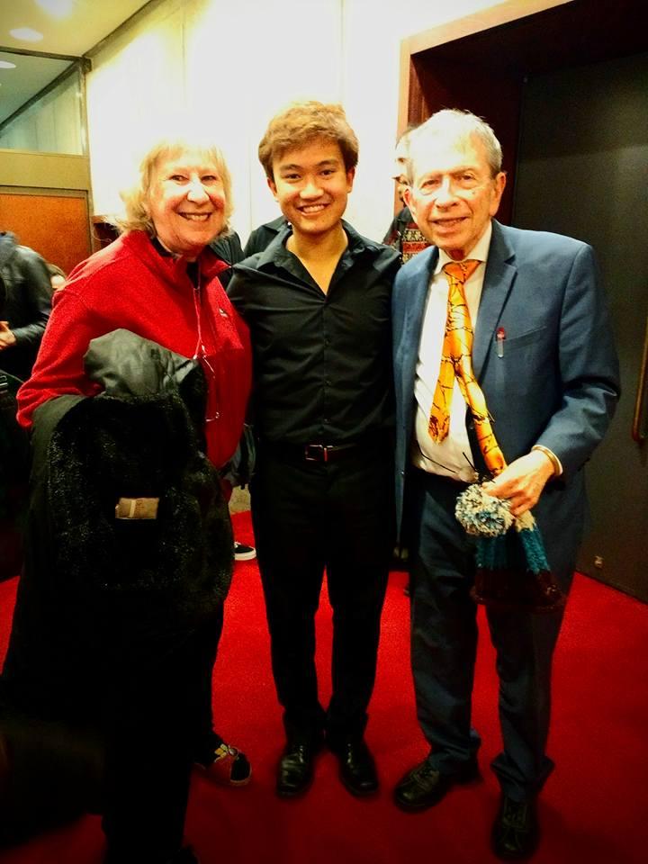 2017 w/ Ursula Oppens and Jerome Lowenthal, post graduation recital at Paul Hall, the Juilliard school