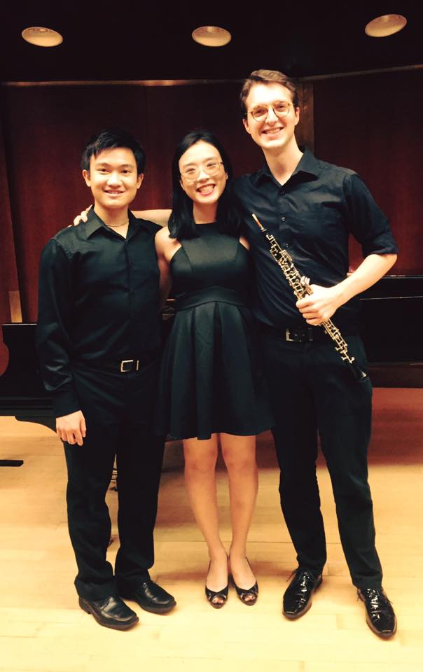 2016 w/ Anne Wang and Mitchell Kuhn performing Anne Wang's composition at the Juilliard School