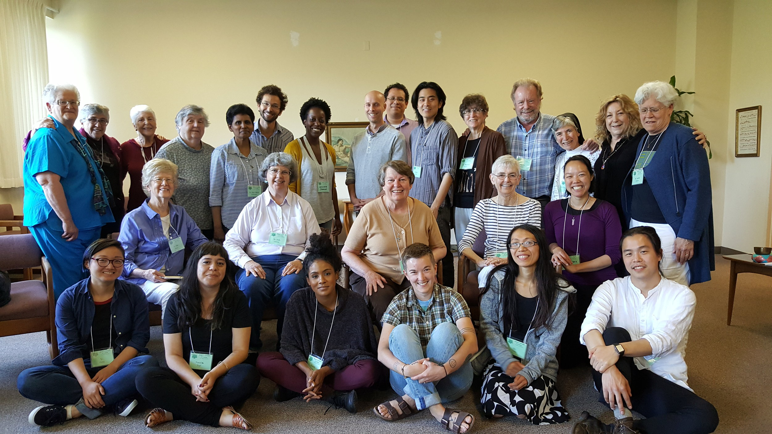 Group photo from the first Bay Area Nuns & Nones gathering. May, 2017.
