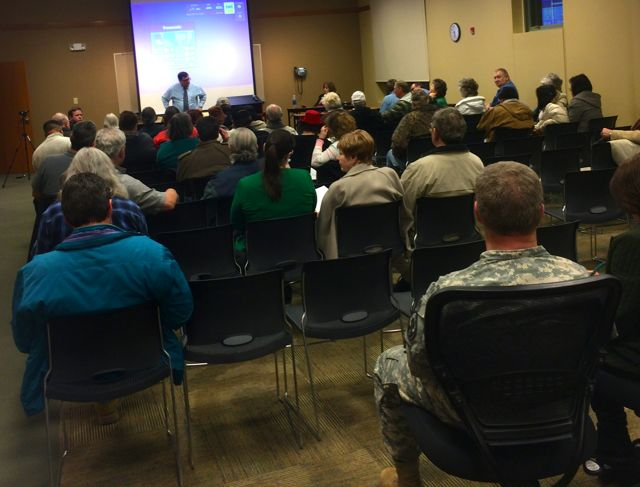 A Feb. 25 public hearing on the MGE natural gas rate increase at the North Independence public library